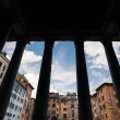 Pantheon arcade, the ancient Roman temple. Rome, Italy. — Stock Photo