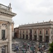 ROME - SEPTEMBER 13. Piazza del Campidoglio, seat of the municipality of Rome. - Stock Photo