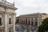 ROME - SEPTEMBER 13. Piazza del Campidoglio, seat of the municipality of Rome. — Stock Photo