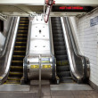 Interior view with escalators of subway station in NYC. — Stock Photo #14440577