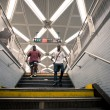 NEW YORK CITY - JUNE 28: walk in Fulton Street subway station, on June 28, 2012 NY. This station is the twelfth busiest in the system as of 2011 with 17,971,983 passengers. — Stock Photo
