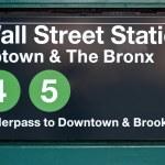 Wall street subway station in New York City. — Stock Photo