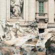 Trevi Fountain detail in Rome, Italy. - Stock Photo