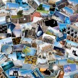 Stack of travel images from the world. - Foto Stock