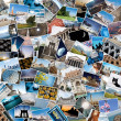 Stack of travel images from the world. - Foto de Stock
