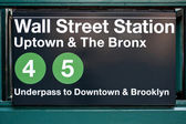 Wall street subway station in New York City. — Stock Photo