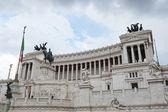 Vittorio emanuele ii pomnik lub ołtarz ojczyzny w roma — Zdjęcie stockowe