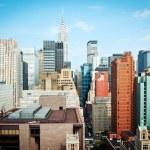 New York City Manhattan skyline view with Chrysler building — Stock Photo #14580363