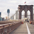 Brooklyn Bridge in New York City. — 图库照片
