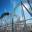 Stock Photo: Roller-coaster in the Coney Island Astroland Amusement Park, Usa