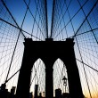 Brooklyn Bridge in New York at dusk. — Stock Photo #14580513