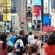 NEW YORK CITY - JUNE 28: Times Square is a busy tourist intersec — Foto Stock