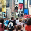 Stock Photo: NEW YORK CITY - JUNE 28: Times Square is a busy tourist intersec