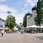 LIENZ, AUSTRIA - JULY 27: City center view, July 27, 2012 in Lie — Stock Photo