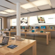 Royalty-Free Stock Photo: The Apple Store on August 6, 2012 in Bologna, Italy. Apple has 363 stores worldwide