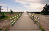 Coastline esplanade at Far Rockaway Beach. New York City. — Stock Photo