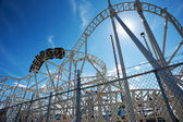 Roller-coaster in the Coney Island Astroland Amusement Park, Usa — Stock Photo
