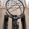 NEW YORK - JUNE 22: Atlas statue at Rockefeller Center on Fifth - Foto Stock