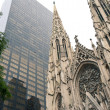 St. Patricks Cathedral, New York City - Stock Photo