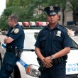 Stock Photo: NEW YORK CITY - JUN 27: NYPD Police officers in NYC on June 27,