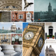 Collage of different images of London, United Kingdom — ストック写真