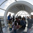 LONDON, UNITED KINGDOM - MAY 31: Detail of London Eye's cabins o - Stockfoto