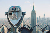 Beautiful view of downtown Manhattan from the Rockefeller Center — Foto de Stock