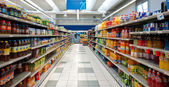 Coop Supermarket, interior view. — Stock Photo