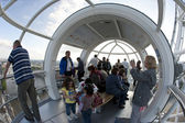 LONDON, UNITED KINGDOM - MAY 31: Detail of London Eye's cabins o — Stock Photo