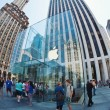 NEW YORK CITY - JUNE 23: Apple Store cube on 5th Avenue June 23, — Stock Photo #14756667