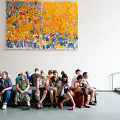 NEW YORK CITY - JUNE 25: inside the Museum of Modern Art — Stock Photo