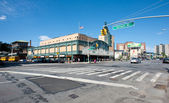 Stillwell Avenue subway station in Coney Island, New York. The t — Stock Photo