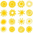 Sun collection, hand made — Imagen vectorial