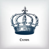 Old Crown illustration — Stock Vector