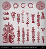 Military trappings of ancient Rome set — Vecteur