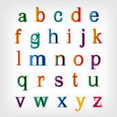 Alfabeto colorato insieme. vector — Vettoriale Stock