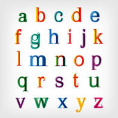 Colorful alphabet set. Vector — Stock Vector