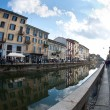 MILAN - MAY 1: Naviglio Grande view. The Naviglio Grande is a ca — 图库照片