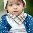 Stock Photo: One year old girl outdoor portrait