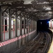 Subway tunnel in New York City subway — Stock Photo