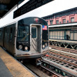 New York City subway station of Marcy avenue, Brooklyn — Stock Photo