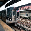 New York City subway station of Marcy avenue, Brooklyn - Stock Photo