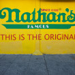 NEW YORK - JUNE 27: The Nathan's shop sign on June 27, 2012 in C — Stock Photo