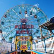 NEW YORK - JUNE 27: Coney Island's Wonder Wheel on June 27, 2012 - Stock Photo