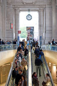 MILAN, ITALY - MAY 1: Central railway station on May 1, 2012 in — Stock Photo