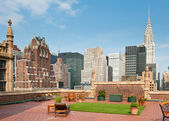 New York City terrace over Manhattan skyline view with Chrysler building — Stock Photo