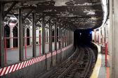туннель метро в нью-йорке метро — Стоковое фото