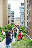 NEW YORK CITY - JUN 24: High Line Park in NYC on June 24th, 2012 — Stock Photo