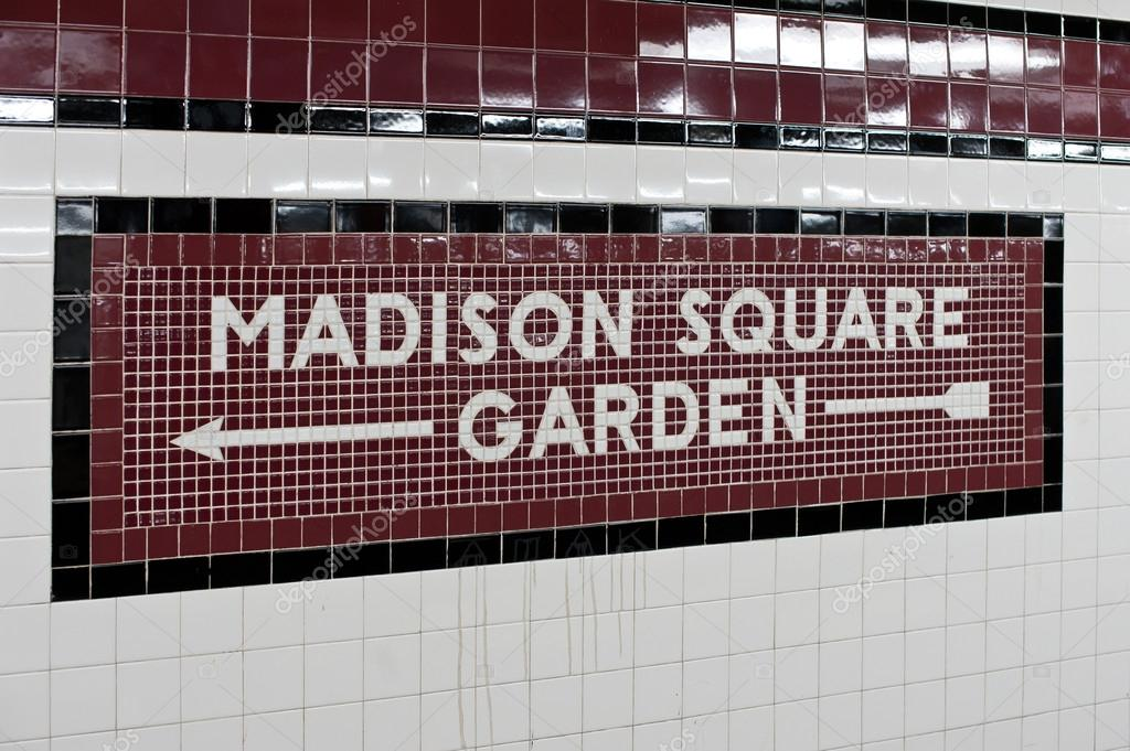 Madison square garden fliese new yorker u bahn zeichen Madison square garden parking garage