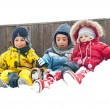 Young kids playing in the snow — Stock Photo #14976341
